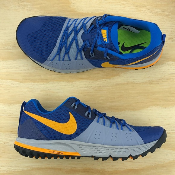 finest selection 0fd6f 0f93a Nike Air Zoom Wildhorse 4 Blue Yellow Grey Shoes NWT
